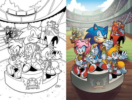 Sonic the Hedgehog 242 Cover by herms85