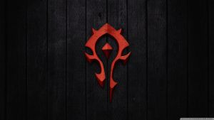 World Of Warcraft   Horde Sign-wallpaper-1366x768 by berkayy90