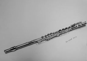 Flute Drawing by heatherw290