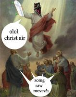 Raptor Jesus - Air Movez by joker-kornstantine