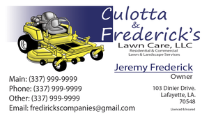 Lawn Care business Card Design by Cadc