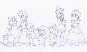 Sketch Commission - All in the Family by EarthGwee