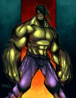 Morning Sketch - Hulk Colored by RobDuenas