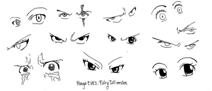 Manga Eyes by VeritasInterlude