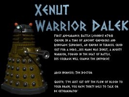 LXD Origins: Xenut Warrior Dalek by IcehawkPrime