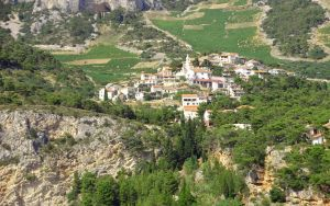 Town Under a Mountain Close Up by BubiMandril