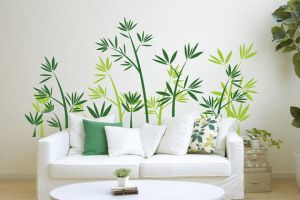 Green Bamboo Forest Wall Sticker by amandabetty