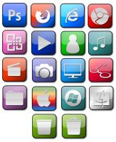 Gloss Dock icon set by jeremebp