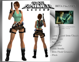 TOMB RAIDER LEGEND BETA  - Lara Classic Beta by TravisCroft6