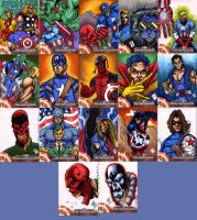 Captain America Sketch Cards 1 by chris-foreman