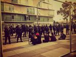 Occupy SF: Protesters Face Police by Sunset-Trails