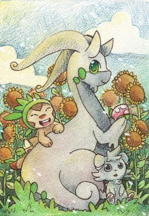 Sunflowers and pokemon by scilk