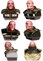Motor Cycle knight bald by tomographiser