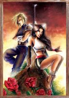 FF VII: Cloud and Tifa by J-Estacado