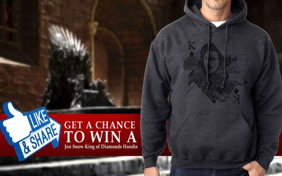 Jon Snow King of Diamonds - Game of Thrones Hoodie by 12epitaph