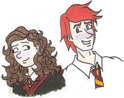 Ron and Hermione by quintessence424