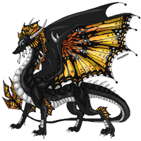 Hatched pixel egg: Butterfly dragon by DodoIcons
