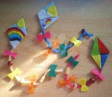 Easter Kites Brooch by 402ShionS3
