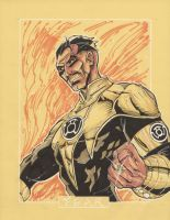 Commission Sinestro by markerguru