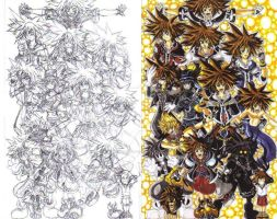 Kingdom Hearts 2 fan art: The forms of Sora by d13mon-studios
