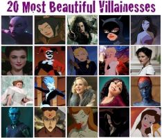 Top 20 Most Beautiful Villainesses by EsmeAmelia