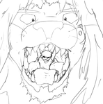 Lined Lion Jaws by ilbv
