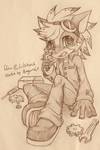 Commission Sketch : Dahni by PenguinEXperience