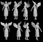 Angel Statue by Irosynthesis