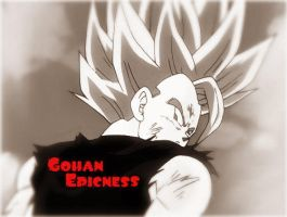 The Epicness of Gohan by LittleJohan