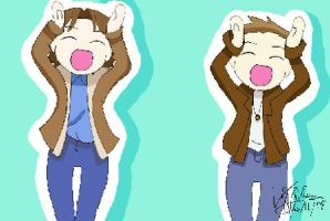 Sam and Dean Do the Dansen by LauraDoodles