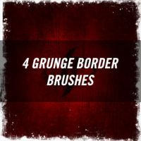 Grunge Border Brushes by joezerosum