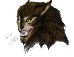 Wolf Man in color by aichan25