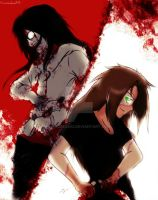 Jeff the killer vs Homicidal Liu by haozeke93