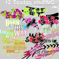 12 Textos en PNG by PartyWithTheStars
