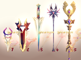 Auction : Weapon Adopt Set 24 [#3 OPEN@USD/pts] by HyRei