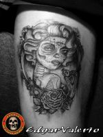 tattoo leg by EdgarValerio