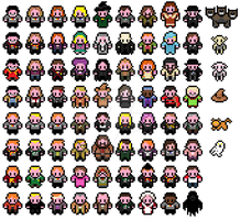 Pixel Harry Potter sprites by mudkat101