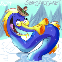 Storsjoodjuret by eternalsaturn