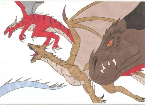 Child of Dragons - The Dragons by Tyrannuss555