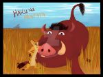 AR05: Timon and Pumbaa by DarkMysteryCat