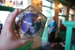 Chocolate frog by carcrashinghearts