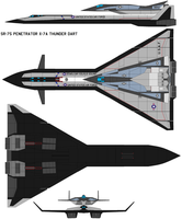 SR-75 Penetrator X-7 A by bagera3005
