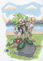 Scourge at the beach by kintobor