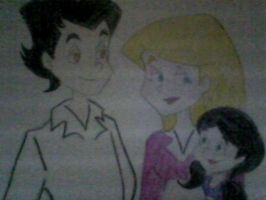 Salem, Sabrina and their daughter Emily Saberhagen by angelight07