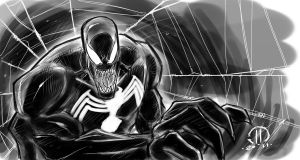 Venom Digital sketch by JoeyVazquez