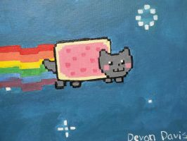 nyan cat painting :D by DevonDavis