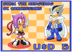 20140925 - Sonic OCs Commissions by nekoiichi
