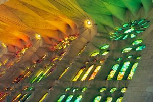 La Sagrada Familia interior 2 by wildplaces