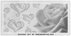 rose and hearts brushes by Magiagrafica