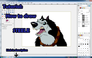 VIDEO: Tutorial: How to draw Steele by EmberWolfsArt